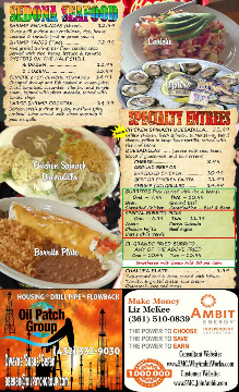 sedona Restaurant Menu pg6